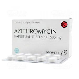 AZITHROMYCIN NOVELL 500MG TAB 30S