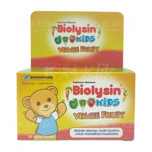 BIOLYSIN VEGGIE FRUIT CHEW TAB 30S BTL