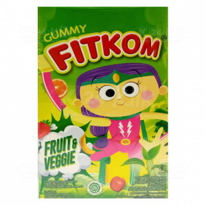 FITKOM GUMMY FRUIT & VEGGIE 12G SACH 4S